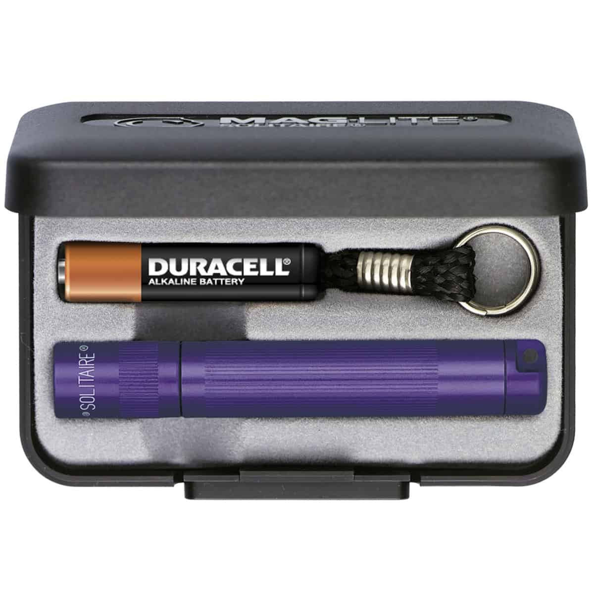 Maglite Solitaire Box lommelygte - Violet