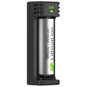 gp lighting – Gp li-ion oplader inkl. 1 x 18650 li-ion 2600 mah batterier på lommelygtesalg.dk